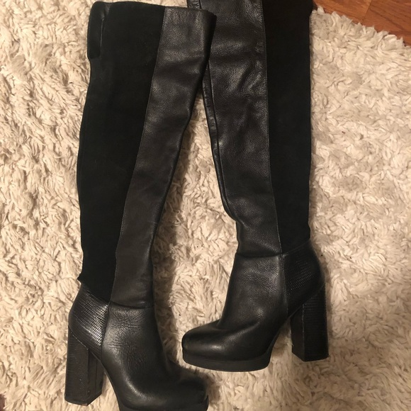 DSW Shoes | Over The Knee Black Boots